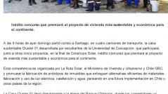 """Ladicusion.""""Casa en rebanadas"""" de la UdeC viajó a concurso Construye Solar"""