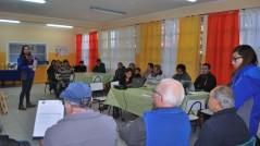 Los alumnos trabajando con la comunidad de  Juan González Huerta sector Higueras de Talcahuano y el programa Quiero Mi Barrio.