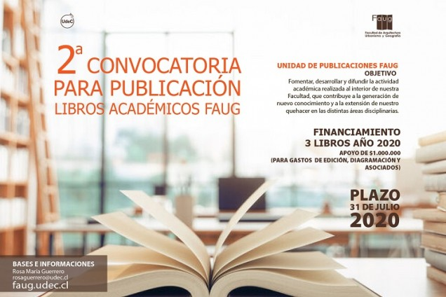 Afiche CONVOCATORIA PARA PUBLICACION LIBROS FAUG02